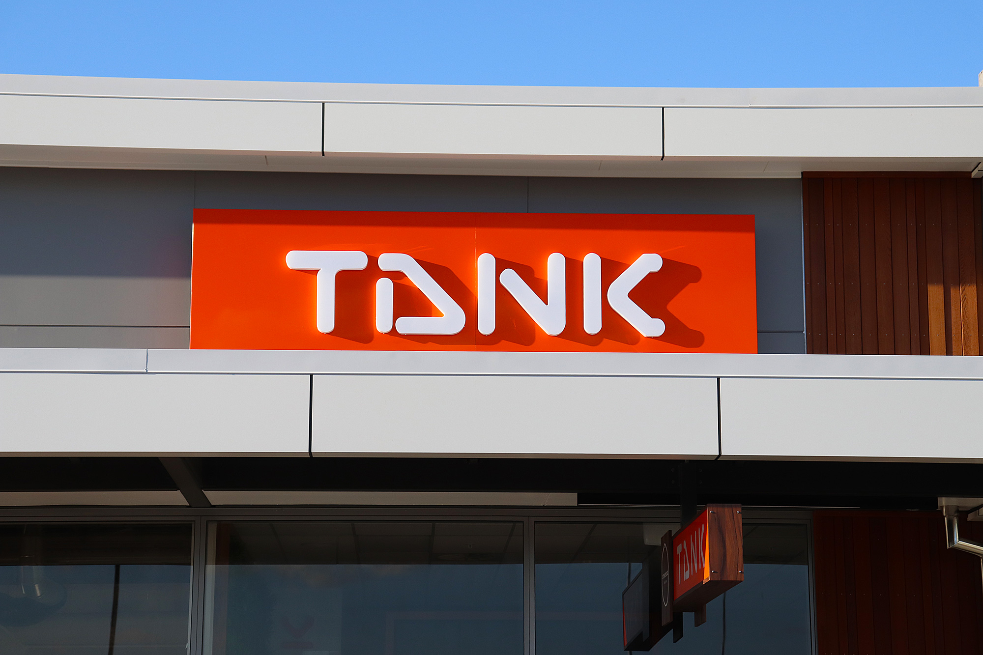 Tank Juice 3D lettering and Fascia sign, Auckland