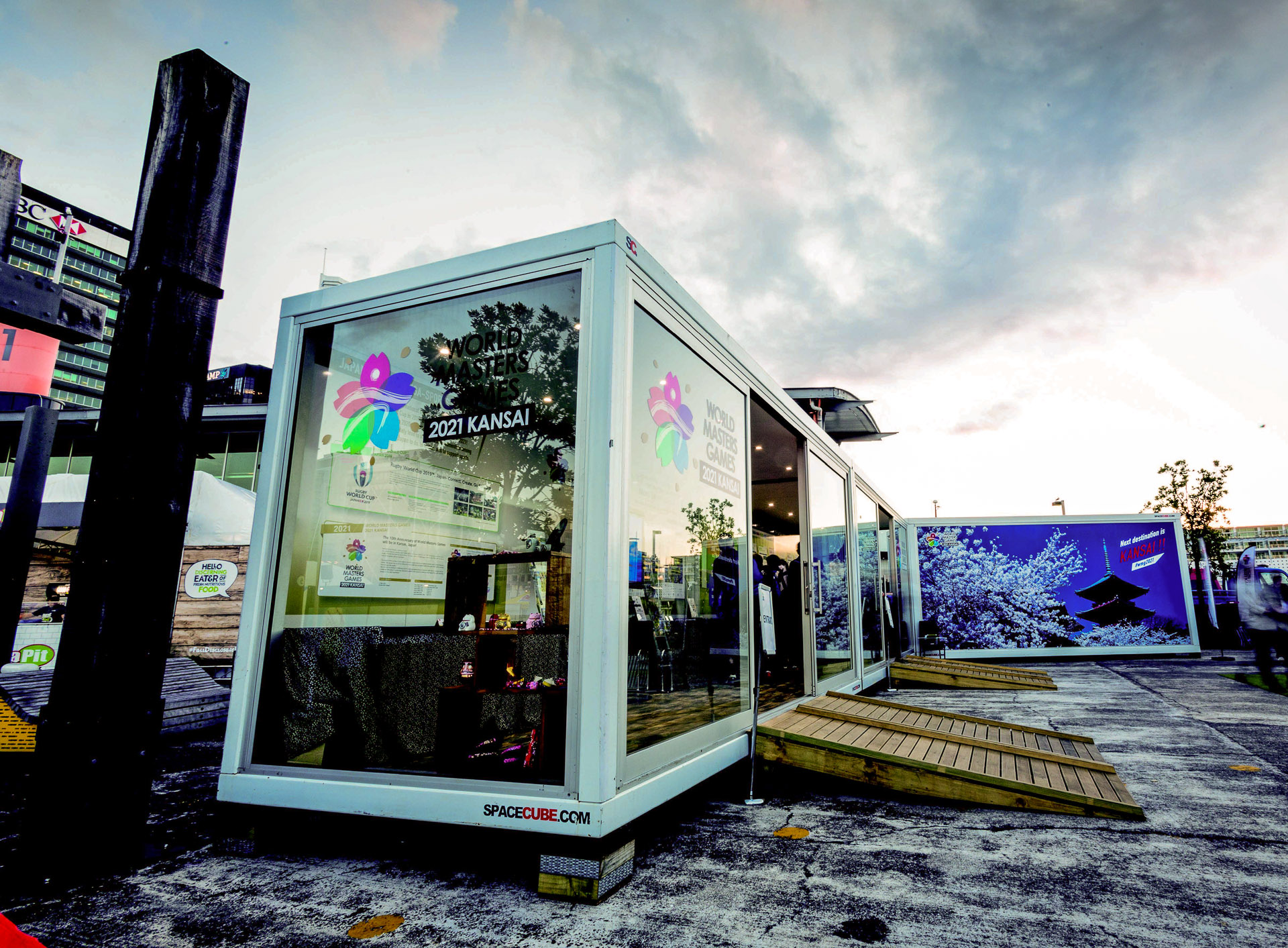 digital prints applied to the Event base space cubes