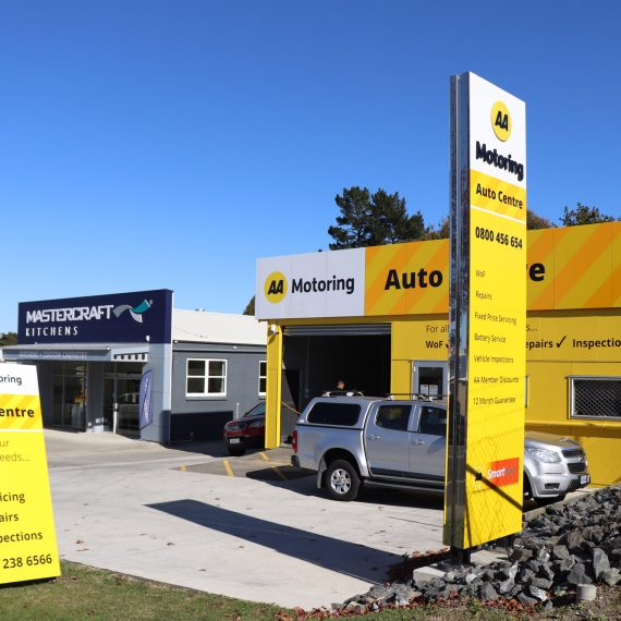 AA service centre brand fit out at Pukekohe