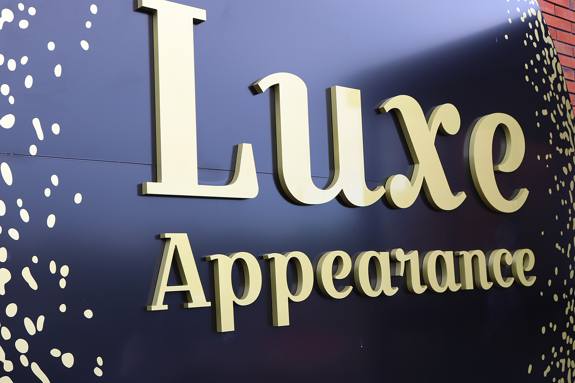 Luxe Appearance 3D lettering and sign in Auckland